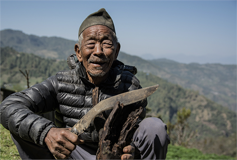 Welfare Pensioner - a Gurkha veteran