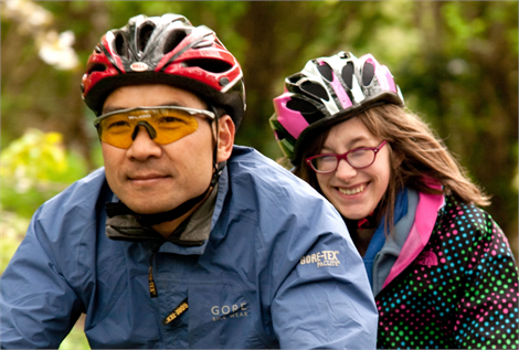 Tandem rides for visually impaired people