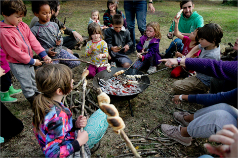 Campfire cooking at the Permaculture Convergence