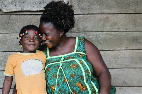 Anna and her daughter, Nina, have a brighter future because of support they have received. Cameroon