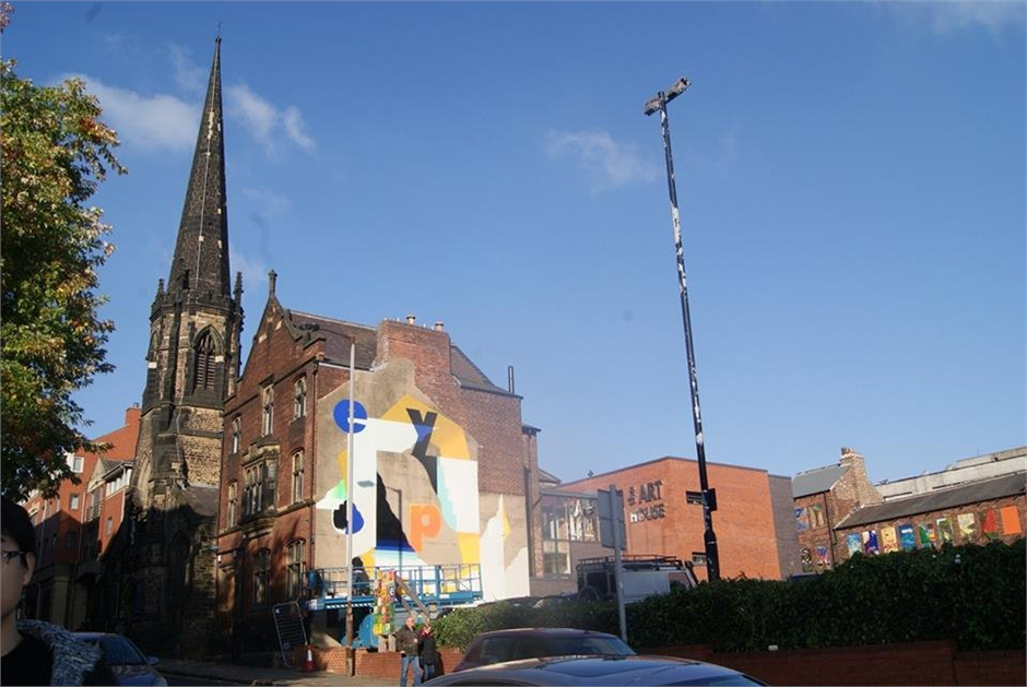 The Art House and Church external view