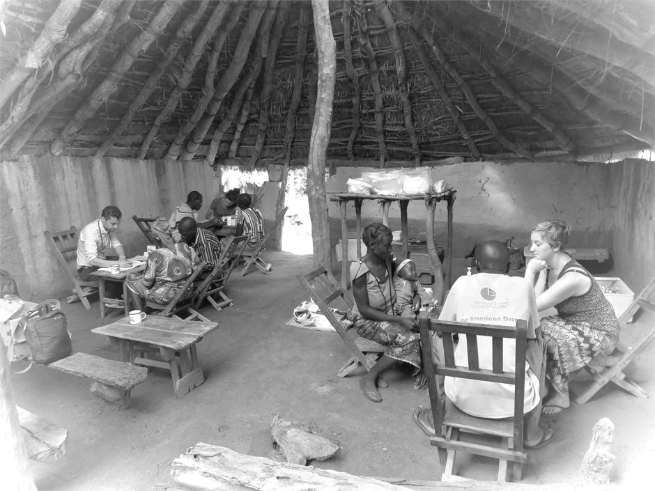 clinic in a hut