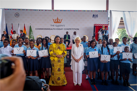 HRH The Duchess of Cornwall launches 2019 essay competition in Ghana