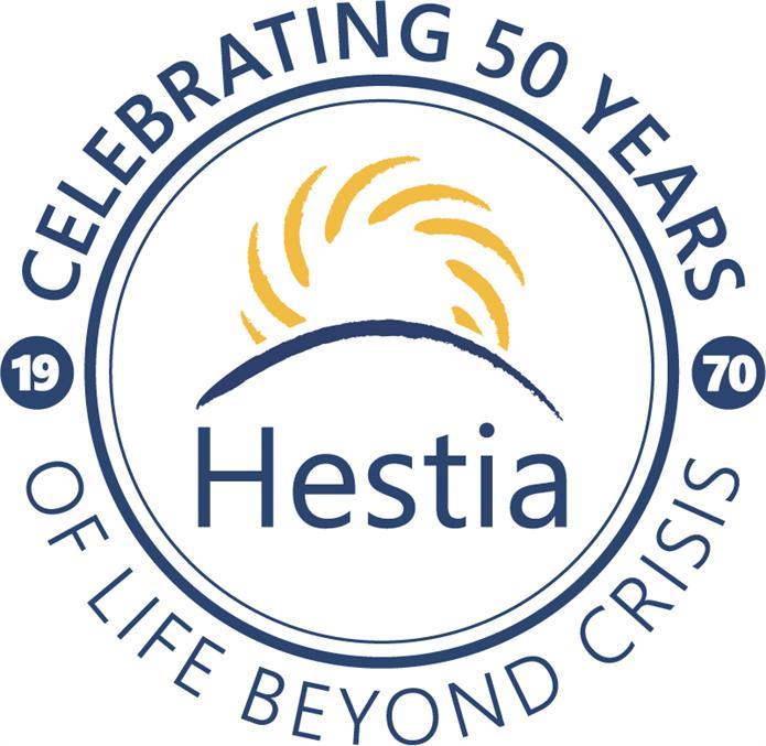 Hestia 50th anniversary logo