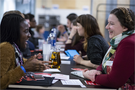 Mentor pairs meet at one of our yearly introduction events. Photo: Lilla Nyeki.