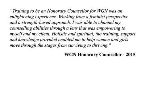 Honorary Counsellor Testimonial