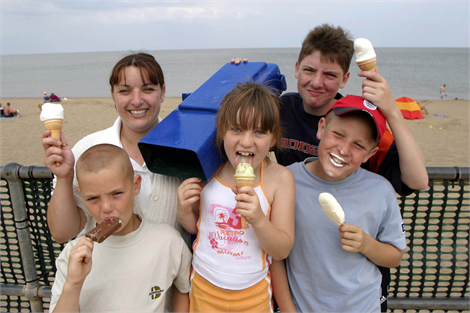Family at Skegness