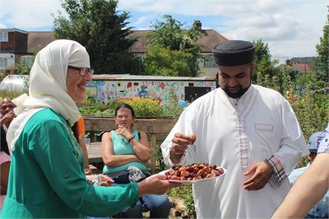 Eid Celebration in our community garden