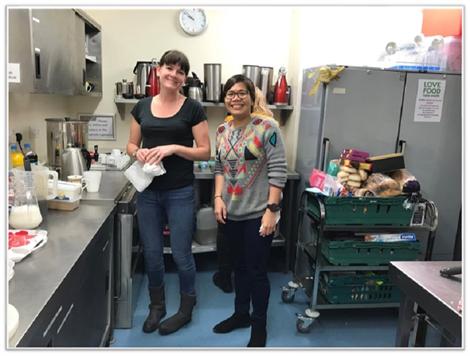 kitchen volunteers