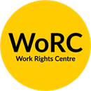Work Rights Centre yellow logo