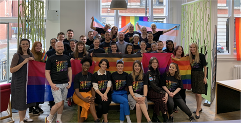 MIF staff at Manchester Pride 2019
