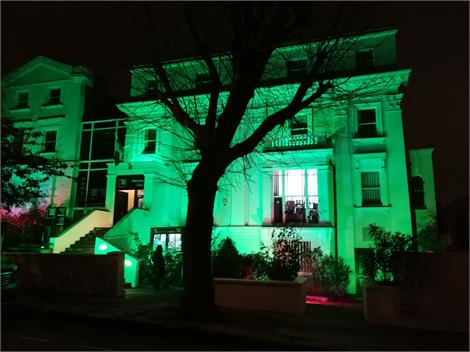 The London Irish Centre at night